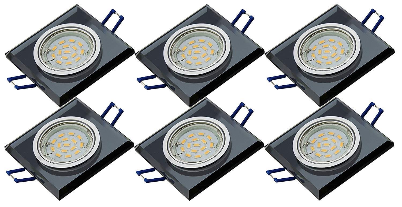 Lot de 4 Eclairage encastr/é Support de Spots pour Gu10 Spot LED lampe et lampe halog/ène