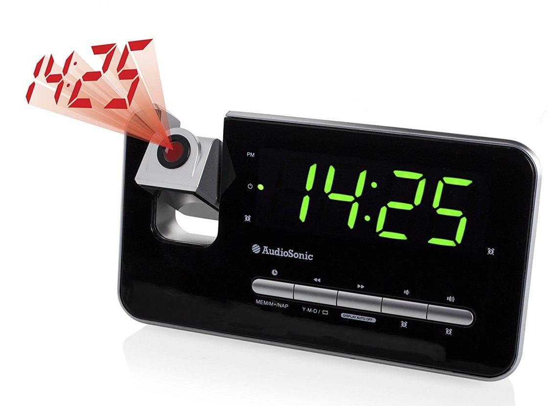 radio réveil projecteur