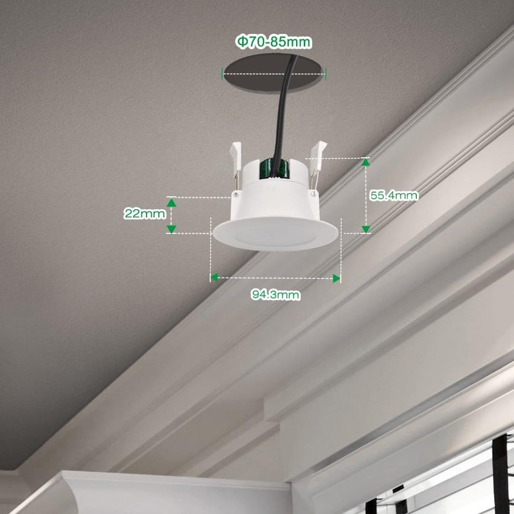 Bandeau Led Encastrable Plafond comparatif sur le spot encastrable à led - zone led