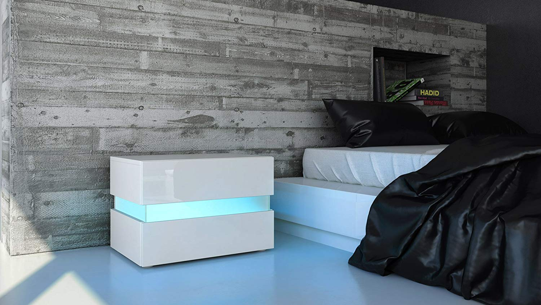comparatif des tables de chevet led zone led. Black Bedroom Furniture Sets. Home Design Ideas