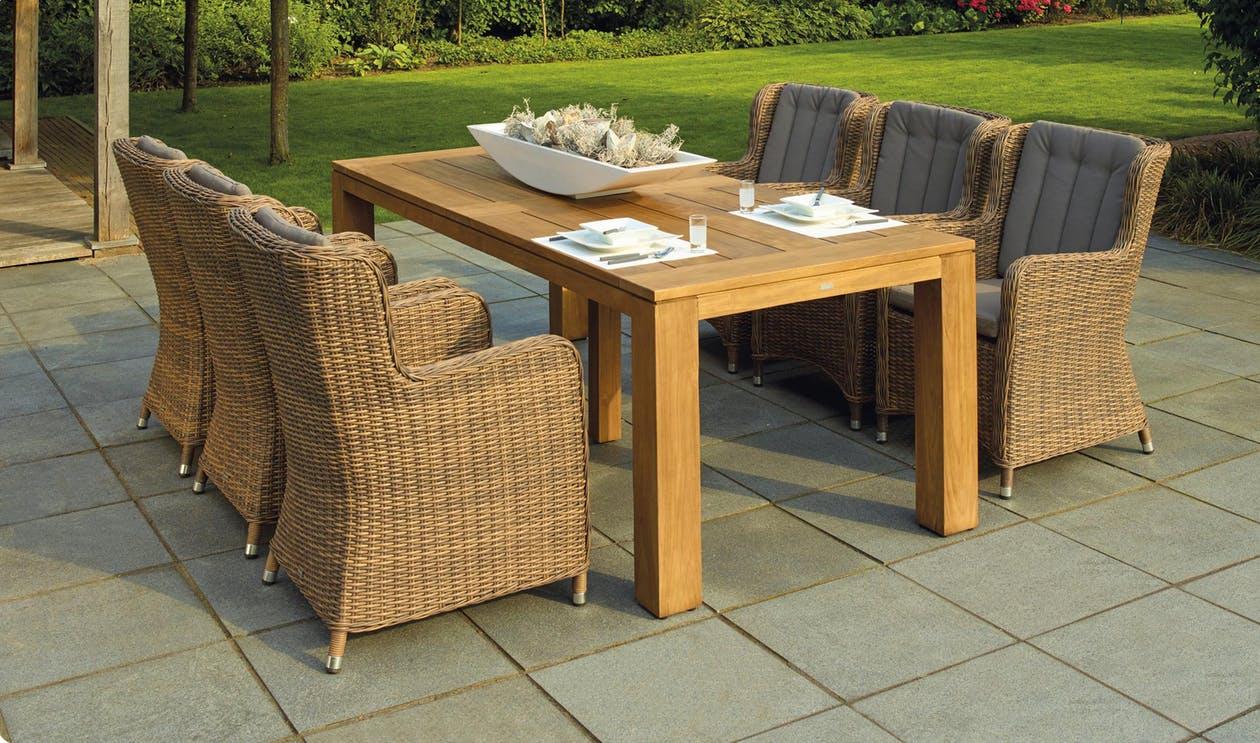 Sedia da giardino sedia batch POLTRONA batch in metallo-tessili ANTRACITE-MARRONE