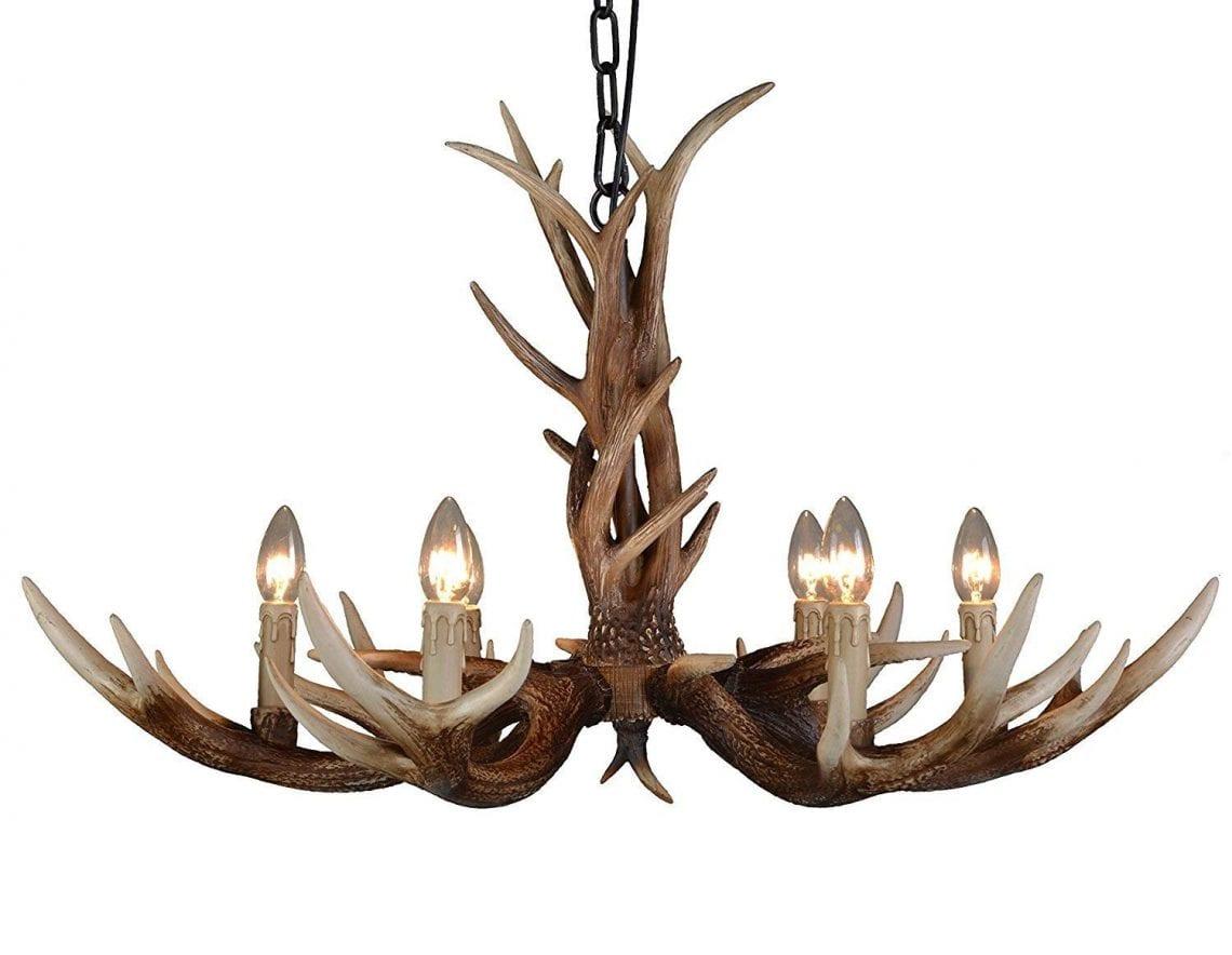 Quel Luminaire Pour Plafond Avec Poutre lustre en bois de cerf, comparatif et avis - zone led