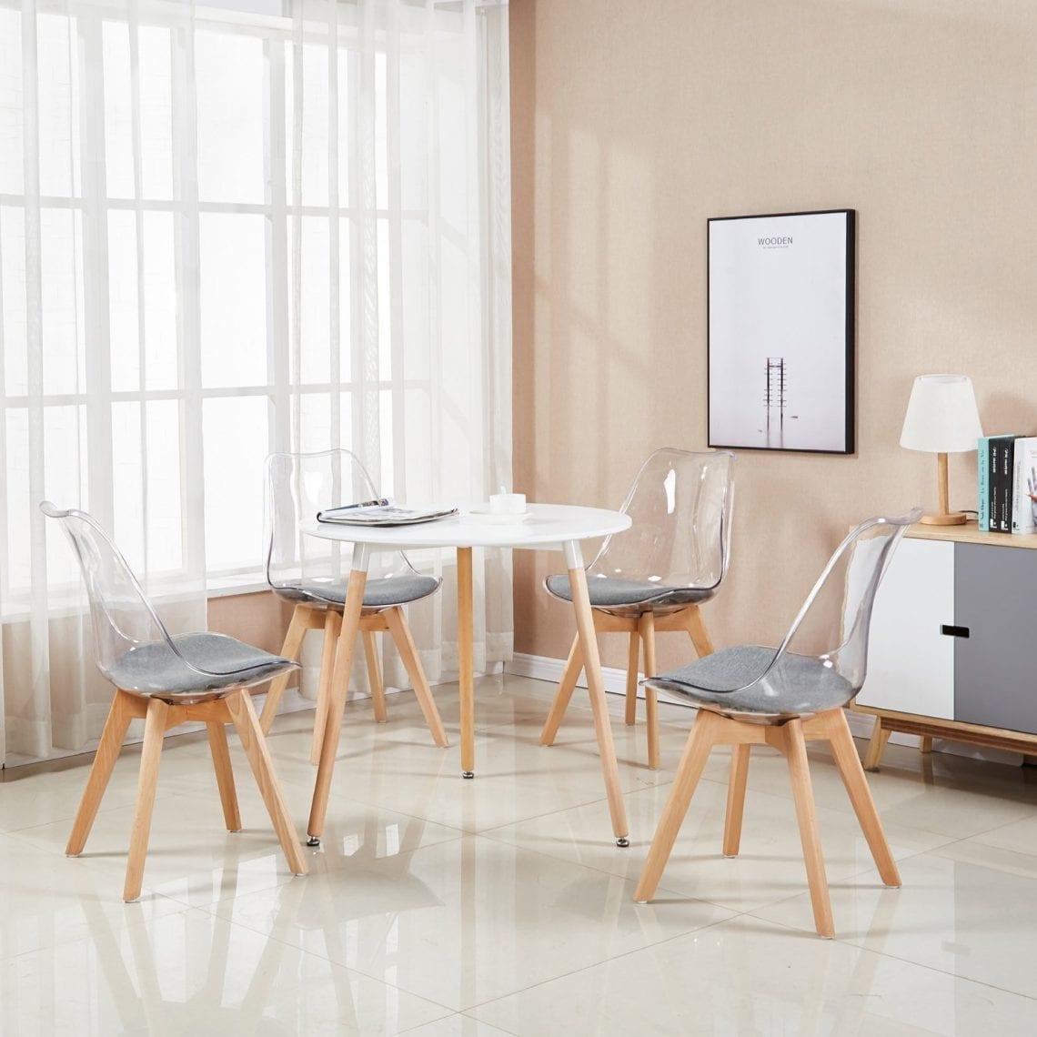 Comment Nettoyer Des Chaises En Plastique Blanc la meilleure chaise transparente, comparatif et avis - zone led