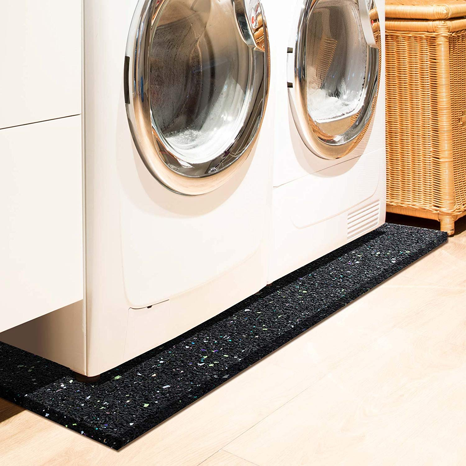 Meuble Machine A Laver Seche Linge indispensable, le tapis anti vibration - zone led
