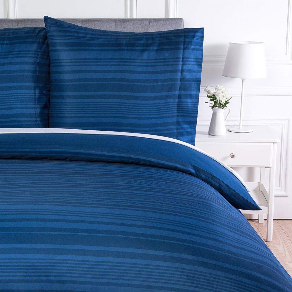 50 cm x70 cm. Bleu Duractron Lot de 2 Taie d/'oreillers 100/% Microfibre Super Douceur Anti-acariens et Hypoallerg/énique